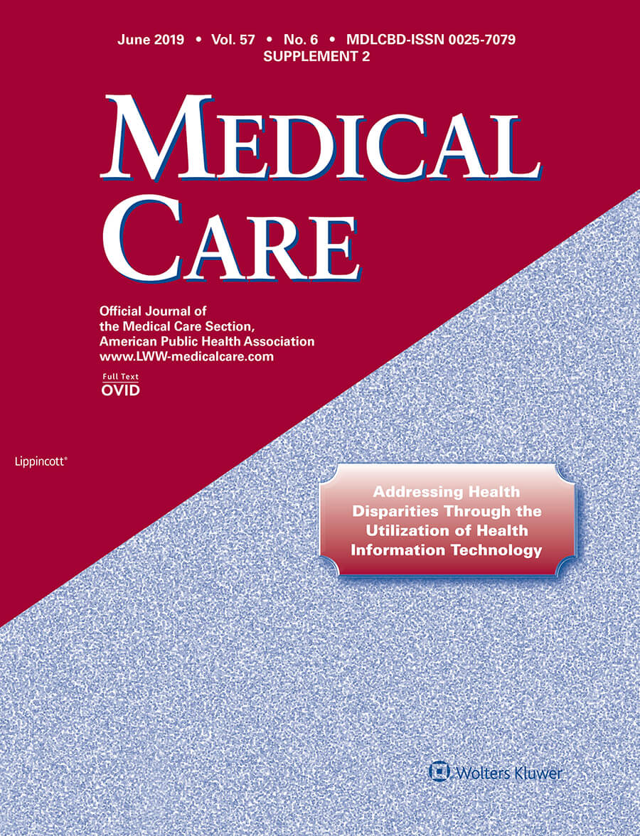 The Medical Care journal supplement, Addressing Health Disparities Through the Utilization of Health Information Technology