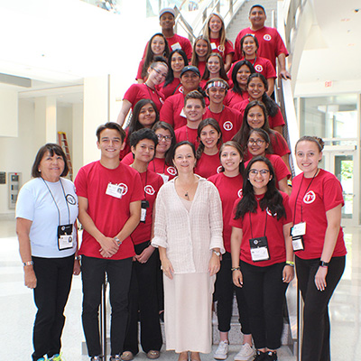 Dr. Wendy A. Henderson with NNAYI participants
